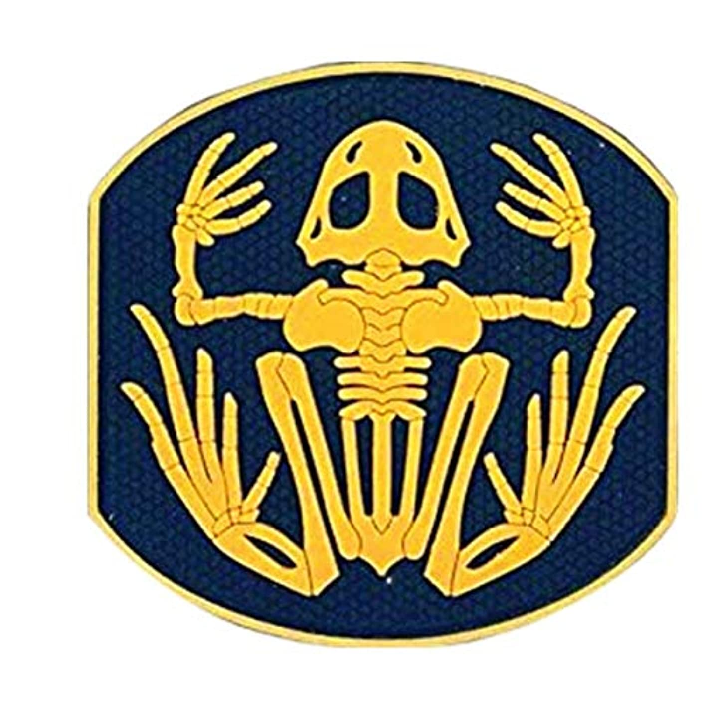 Morton Home Seals Bone Frog Skull Skeleton 3D PVC Rubber Morale Hook Patch (Yellow)