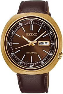 Mens Analogue Automatic Watch with Leather Strap SRPC16K1