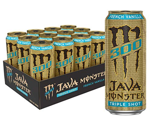 Monster Energy Java 300 Triple Shot Robust Coffee, French Vanilla, 180 Fl Oz (Pack of 12)