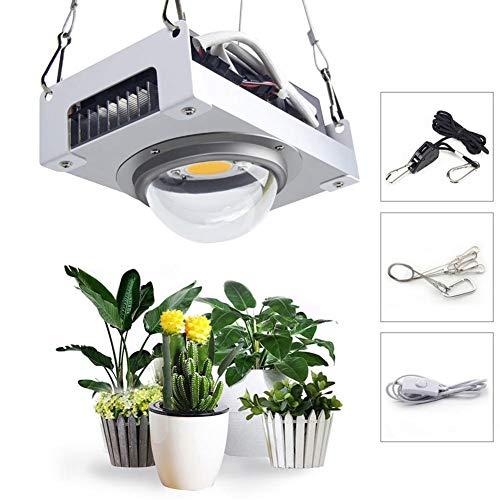 ZJING Pflanzenlampe LED Wachstumslampe Full Spectrum Für Zimmerpflanzen Gemüse Und Blumen,3500k,COB~CXB