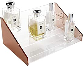 Moosy Life Rose Gold Desktop Acrylic 3 Layers Perfume Organizer, Display Stand