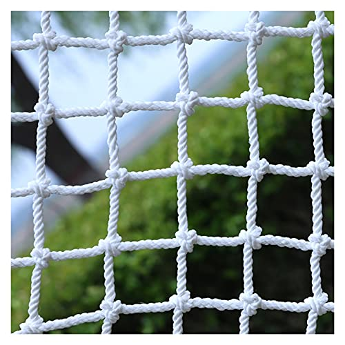AWSAD Child Safety Net, Stairs Playground Climb Fall Protection Net Nylon Cargo Net Garden Decoration Net Rope Thick 6Mm Color : 5cm mesh, Size : 3×5m(10×16ft)
