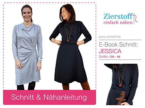 Papierschnittmuster/City Kleid/Damenkleid/Knotenkleid/Gr. 158 bis Damengr. 46 inkl. Nähtutorial zum selber Nähen