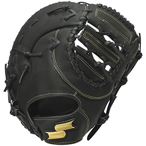 SSK(エスエスケイ) 軟式野球ミット一塁手用 【2020年春夏モデル】 WDF200 ブラック(90) L(右投げ用)
