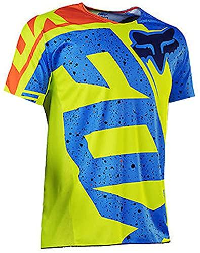 YMWL Magliette da Ciclismo da Uomo T-Shirt Manica lunga Top Abbigliamento Maglie da Ciclismo, Camicia da Mountain Bike MTB, Traspirante e Assorbente dal Sudore Maglia da ciclismo estiva