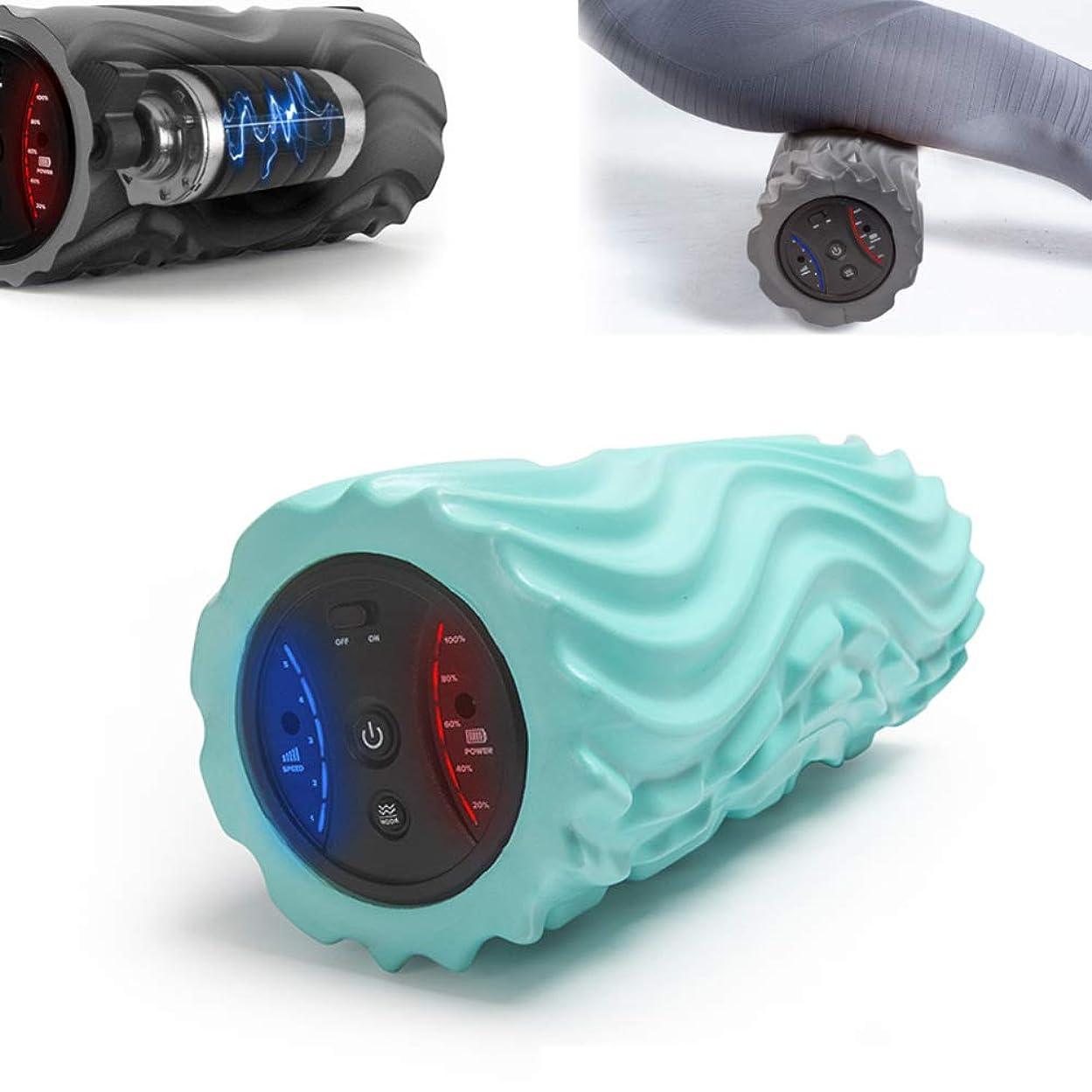 好む近似ウナギフォームローラー 深い泡のマッサージの自己筋筋膜の解放の制動機ポイントのための電気泡のローラー5ギヤ位置,Green