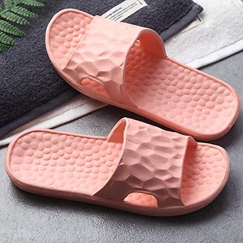 quming Zapatillas De Piscina Antideslizantes Unisex,Zapatillas cómodas de Interior, Sandalias Antideslizantes de baño de Hotel-Orange_36 / 37