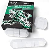 ADV Tennis Vibration Dampener - Set of 3 - Ultimate Shock Absorbers for Racket and Strings - Premium Quality, Durable, and 100% Reliable - Newest Technology (Clear)