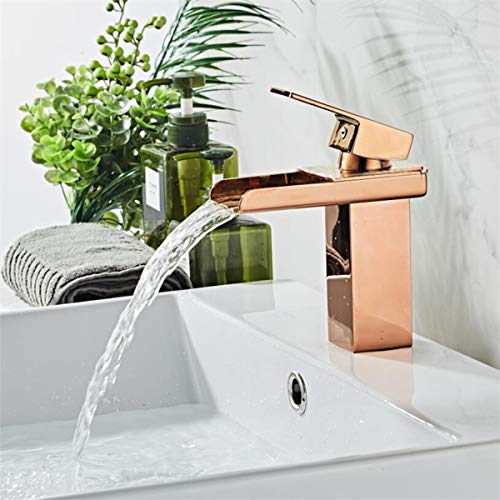 RoséGold Messing Waschbecken Wasserhahn Waschtischarmatur Mischbatterie Homelody KüChenwasserhahn Waschbeckenarmatur Retro Faucet