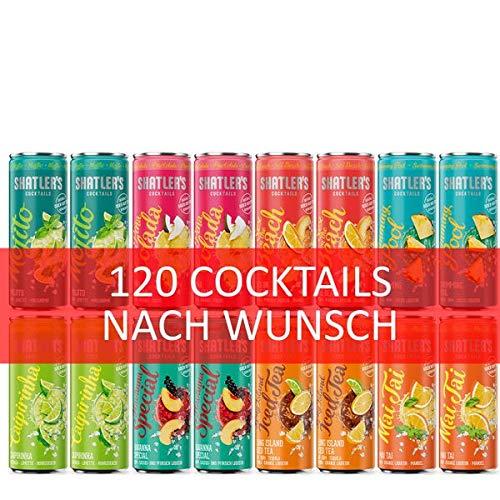 Shatler´s Wunsch-Cocktail Paket (120x0,25l) inkl. 30EUR Dosenpfand