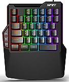 NPET ゲーミングキーボード 片手 メンブレン式 1,680 万色 RGBバックライト 左手用キーパッド 38キー USB カスタマイズ可能 2年間品質保証 右手用キーパッド T20