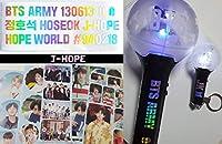 Army Bomb用 BTS ホログラム ステッカー, Hologram Sticker 1 Sheet + かわいい写真ステッカー 2 pcs(Jungkook ジョングク/Jimin ジミン/V ブイ) (J-Hope)