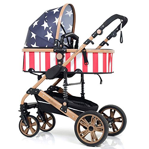 Check Out This Qivor Baby Carriage Can Sit and Fold Two-Way Baby Stroller High Landscape Stroller (C...