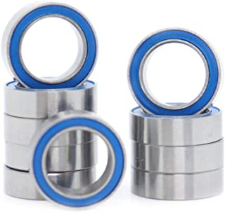 MR128-2RS Ball Bearing 8x12x3.5mm Compatible with Traxxas 7020 RC Vehicles,8x12mm ABEC-3 Blue Rubber Sealed Ball Bearings...