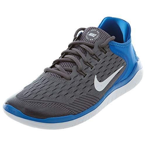 Nike Herren Jungen Free Run 2018 (GS) Laufschuhe, Mehrfarbig (Gunsmoke/White/Signal Blue/Thunder Grey 005), 37.5 EU