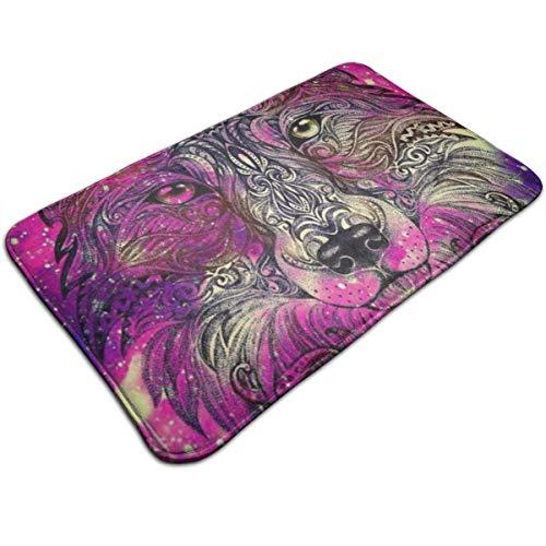 N/A Gekleurde wolf hoofd druk deurmat badmat ingangsmat vloermat tapijt binnen- / buiten/ badmatten antislip