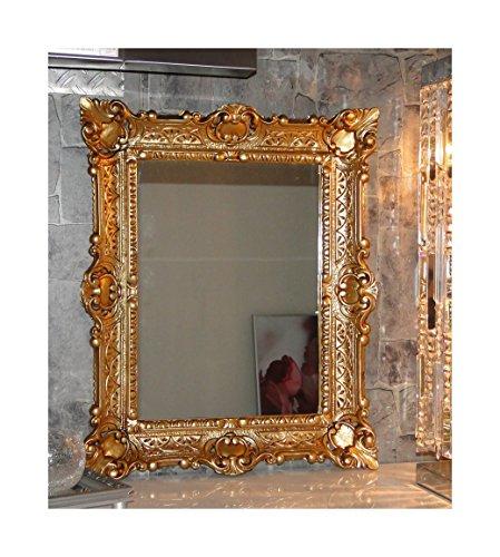 Lnxp WANDSPIEGEL BAROCKSPIEGEL Spiegel in Gold 56X46 cm Renaissance Opulenter PRACHTVOLLER Nostalgie...