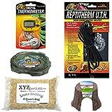 xyzReptiles Snake Kit 10 Gallon Terrarium Starter Snake Habitat Setup For Pet Snakes