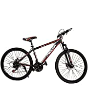 دراجة جبلية للبالغين، سرعة 21، حجم عجلات 26 انش، مزودة بشوكة أمامية، وفرامل قرصية
