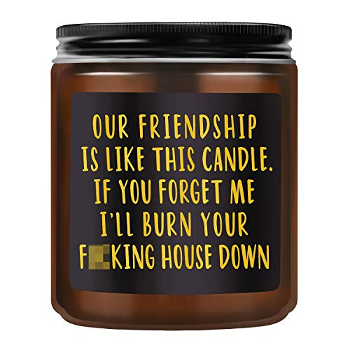 TASRUIMI Lavender Scented Candles - Funny Candles Gifts for Women - Best Friend Friendship Gifts for Women, Sister, Friends, Bestie, BFF, Roommates, Coworker - Funny Birthday Gifts for Friends Female