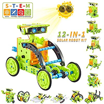 Kidpal Solar Powered Kit Robotics Science Kit for Kids 7 8 9 10 11 12 Year Old Boys & Girls Engineering Toys Build Your Own Robot Kit STEM Robot Building Kit for Teen Boys Age 7 8 9 10