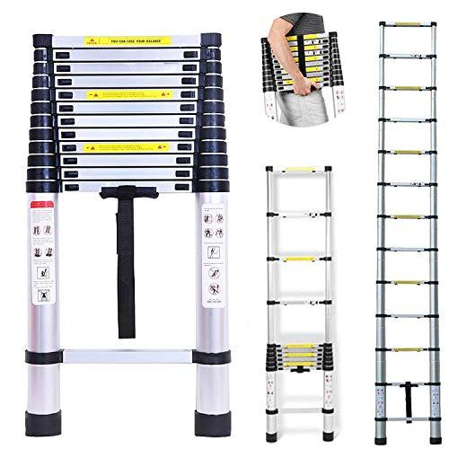 16,5 pies telescópicos escaleras de aluminio portátiles fo