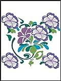 Adhesivo decorativo para azulejos de baño & de la cocina - para azulejos blancos se recomienda - de cocina azulejos para una sola fluir MD070 - hermosa flor flores, 20 x 25 cm