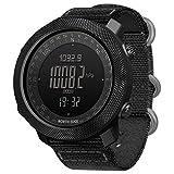 [page_title]-Explopur SPORTUHR - Digitale Sportuhr Für Herren Mit Höhenmesser-Barometer Kompass World Time 50M wasserdichte Pedometer-Armbanduhr
