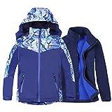 Jingle Bongala Boys Girls Waterproof Ski Jacket 3 in 1 Winter Coat for Hiking Snowboarding-BLUE-150