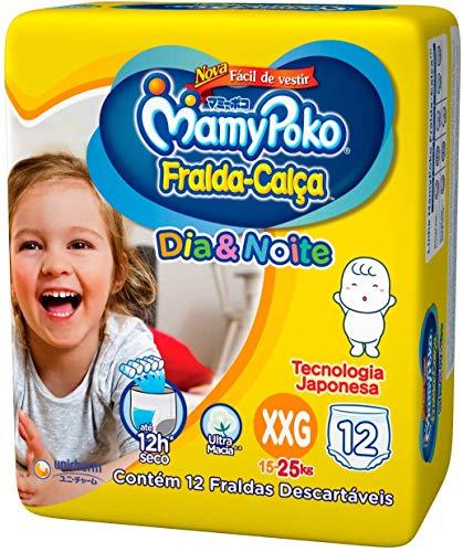 Fralda-Calça Dia & Noite MamyPoko Tamanho XXG, 12 unidades