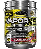 MuscleTech Vapor X5 Next Gen Pre Workout Powder, Explosive Energy Supplement, Fruit Punch Blast, 30 Servings (9.28oz)