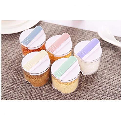 5 kruiden zout peper snoep kruiden doos kruiden fles transparante kruiden opslag container pot Set
