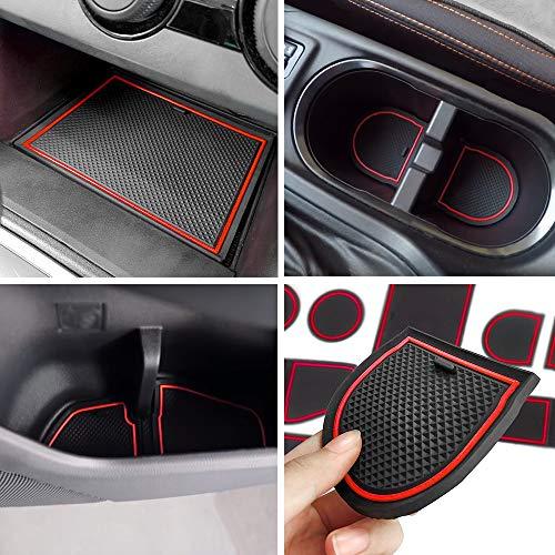 Black Trim SENSHINE Cup Liner Door Mat for Subaru WRX 2015 2016 2017 2018 2019 2020 Center Console Liner Insert Accessories Kit Custom Fit