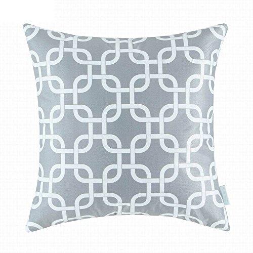 Bluelans Lin Couvre-lit décoratif Taie d'oreiller Housse de coussin Canapé Creative Taie d'oreiller pour chambre à coucher, 45,7 x 45,7 cm/50,8 x 50,8 cm, Lin, gris, 18x18 Inch