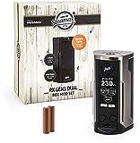 Wismec/Steamax RX Gen3 Dual Akkuträger 230 Watt + 2 x 3000 mAh Akku Mod-Box-Set E-Zigarette E-Shisha (dieses Produkt enthält kein Nikotin) (edelstahl)