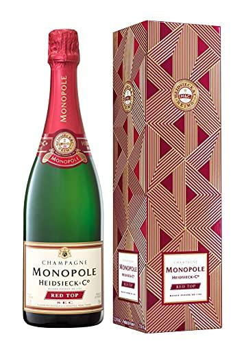Heidsieck & Co. Monopole Red Top Sec Champagner mit Geschenkverpackung (1 x 0.75 l)