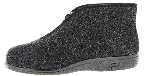 Florett Damen & Herren Hausstiefel-60 Unisex Stiefel Hausschuhe schwarz, EU 44