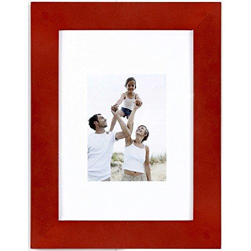 IMAGINE Cadre Photo Optimo Rouge 10x15 cm, Bois reconstitué - Marque française
