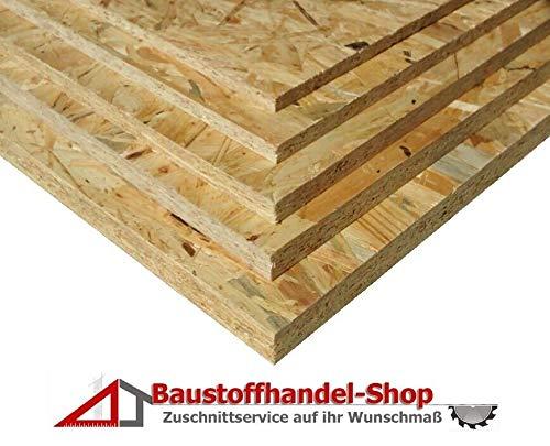 18mm OSB3 18,50€/m² Grobspanplatte Spanplatte Platten Grobspanplatte OSB Verlegeplatte Holzplatte Feuchtraum-geeignet (125 x 80 cm)