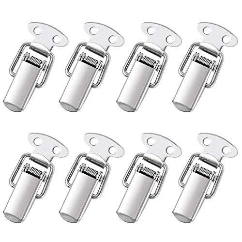 DECARETA 8 Stück Spannverschluss Edelstahl Haspe Kistenverschluss Silber Hebelverschluss für Case Box, Toolbox, Schublade, Schrank, Truhe
