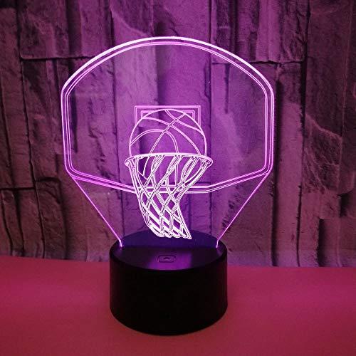 Hancoc LED De Colores Aro De Baloncesto Gradientes 3D Estéreo USB Lámpara De Luz De Noche Remoto Táctil De Noche Regalos For Las Fiestas De Cumpleaños Creativo Decorativo Escritorio