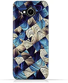 HTC Desire 10 Compact TPU Silicone Protective Case with Digital Art Abstract Pattern Design.