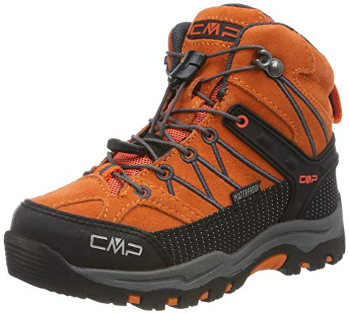 CMP Unisex-Kinder Kids Rigel Mid Shoe Wp Trekking- & Wanderstiefel, Orange (Orange-Antracite 39cc), 31 EU