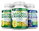 Garcinia Cambogia Extract & Colon Cleanser- 95% HCA 3000mg Capsules - Quick Cleanse to Support Detox, Weight Loss & Increased Energy Levels - 3 Pack Bundle
