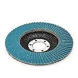 Envío gratis Discos de aleta 115 / 125mm Amoladora angular Discos de lijado 40/60/80/120 Hojas de muela abrasiva para acero inoxidable Hierro-115mm 60Grit, 5PCS