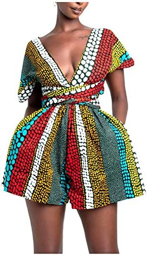 African print rompers _image0