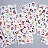 BLOUR 6 Hojas/Paquete Fairy World Stickers Set Papelería Decorativa Stickers Scrapbooking DIY Diary Album Stick Label