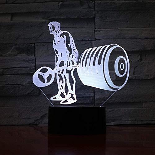 Luz de noche de natación Led 3D Slide 7 Cambio de color Bicicleta Lámpara de mesa Lámpara de decoración del hogar Luz