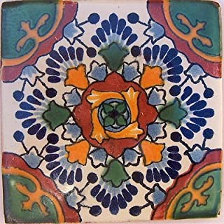 Fine Crafts Imports 2x2 36 pcs Gerona Talavera Mexican Tile
