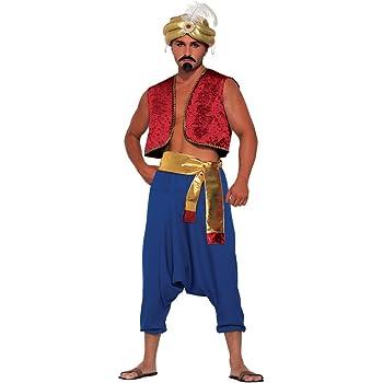 UK 42-44 Costume da uomo ALADINO Forum Novelties 76728 Genie Rosso Vest